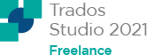 SDL Trados Studio 2017 Freelance (Plus) frissítése SDL Trados Studio 2021 Freelance (Plus) verzióra